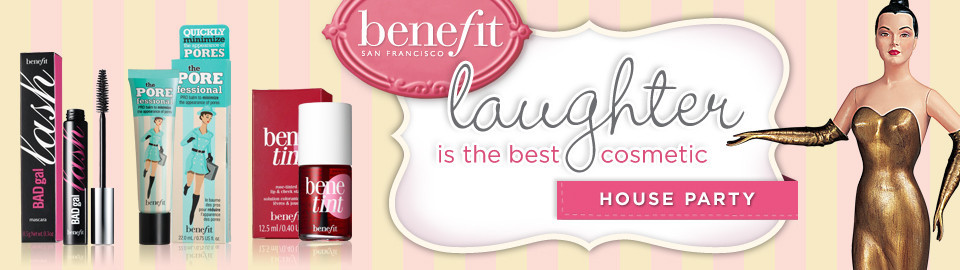 Benefit Laughter is the Best Cosmetic House Party