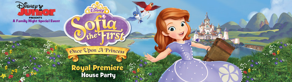 Disney Juniors Sofia the First Royal Premiere House Party
