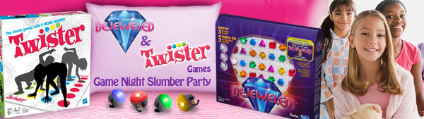 BEJEWELED & TWISTER Game Night Slumber Party House Party
