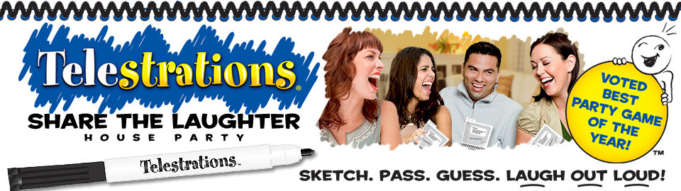 Telestrations Share the Laughter House Party