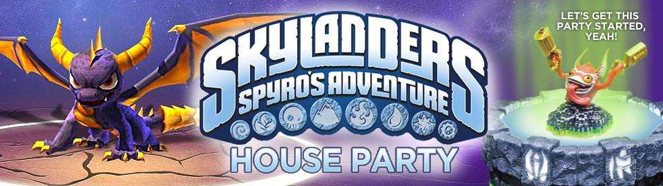 Skylanders Spyro's Adventure House Party