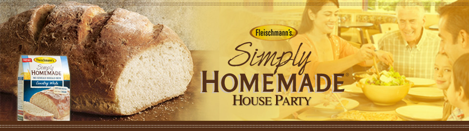 Fleischmanns Simply Homemade House Party