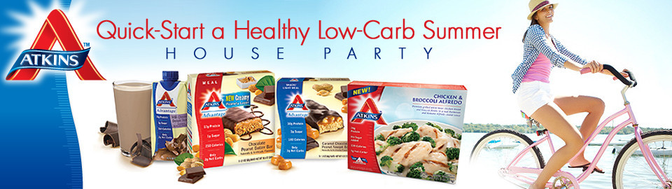 Atkins™ Quick-Start a Healthy Low-Carb Summer House Party