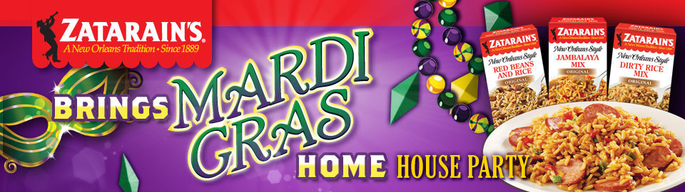 Zatarains Brings Mardi Gras Home House Party 